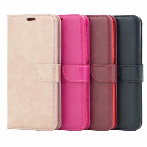 Handy Tasche für Samsung Galaxy S9 Flip Case Schutz Hülle Cover aus Kunst Leder