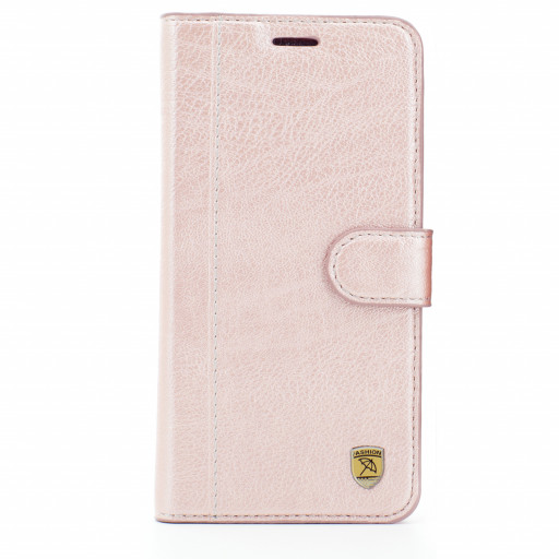 Luxus Business Flip Case Rosa Apple iPhone X Schutz Hülle PU Leder Handy Cover Luxus Business Flip Case Rosa Apple iPhone X Schutz Hülle PU Leder Handy Cover