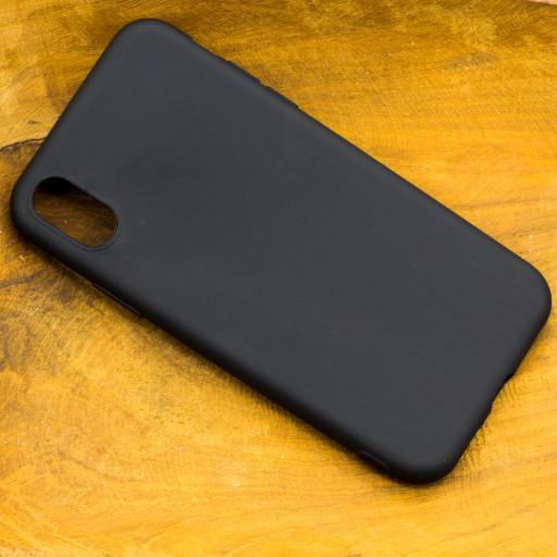Silikon Handyhülle für das Apple iPhone X Schwarz mit geschützten seiten Tasten