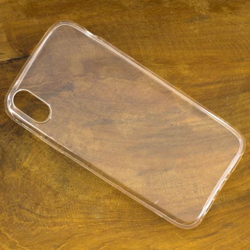 Silikon Handyhülle für das Apple iPhone X Transparent mit geschützten seiten Tasten