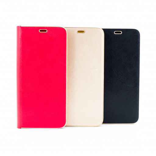 Luxus Samsung S8 Schale Flip Case Magnet Hülle Etui Tasche Schutz Cover Handy ROT GOLD SCHWARZ