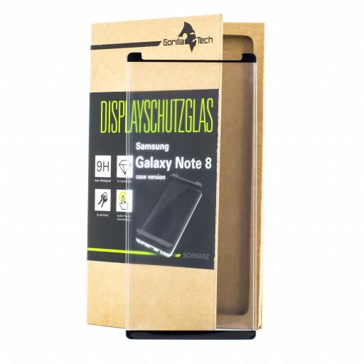 Panzerglas Samsung Galaxy Note 8 Schutzfolie Schutzgals Echtglas Schutz SCHWARZ