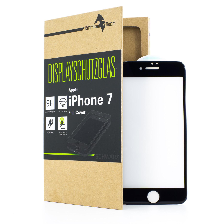Apple iPhone 7 PLUS FULL-FRAME Schutzglas Displayschutz in SCHWARZ, ROT und WEISS