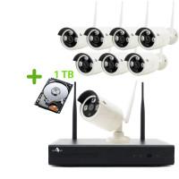 Funk Überwachungskamera 960P mit 8 Kameras für Außen inkl. 1TB Festplatte