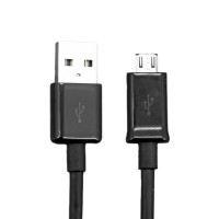 USB to Micro USB Kabel, 0,5 Meter in Schwarz