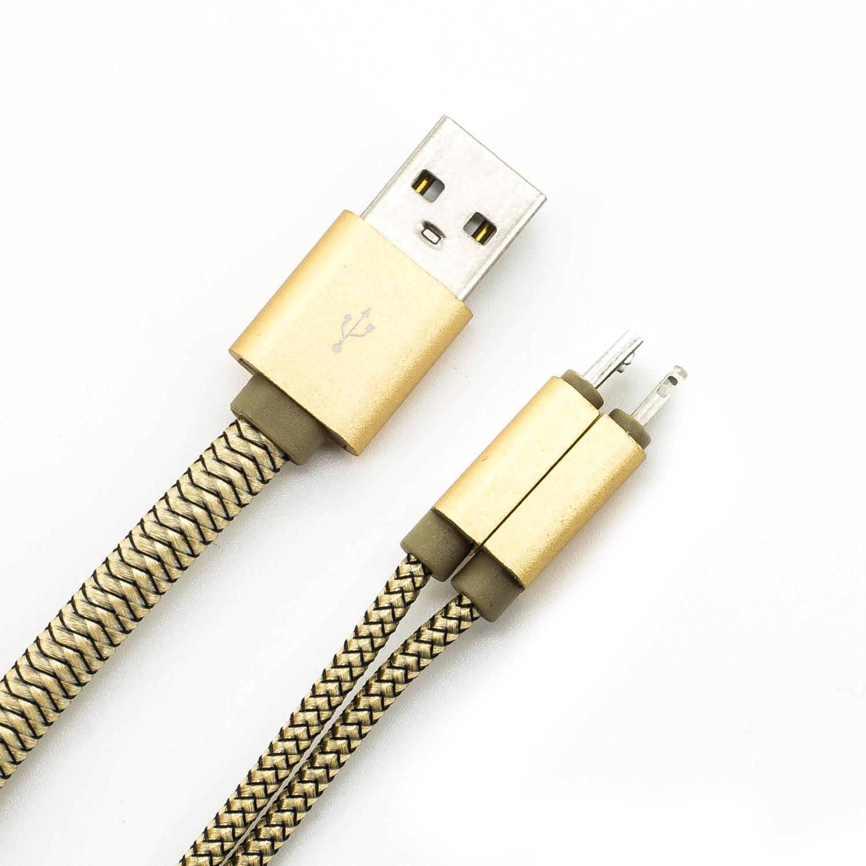 USB Peitsche zu Micro USB und Lightning Daten- und Ladekabel (1,0 Meter)