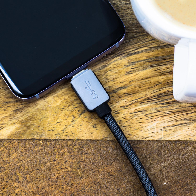 SuperSpeed USB C Datenkabel 3 Meter USB 3.0 für USB Type-C Geräte