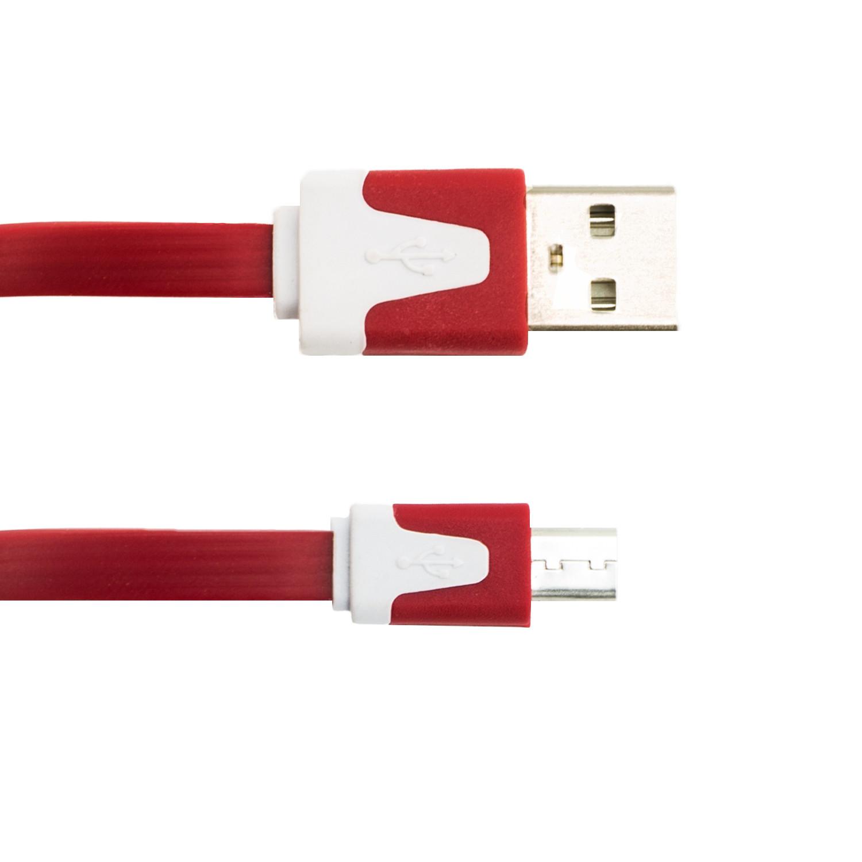 Inline Flachkabel Micro USB zu USB Daten- und Ladekabel 1,0 Meter