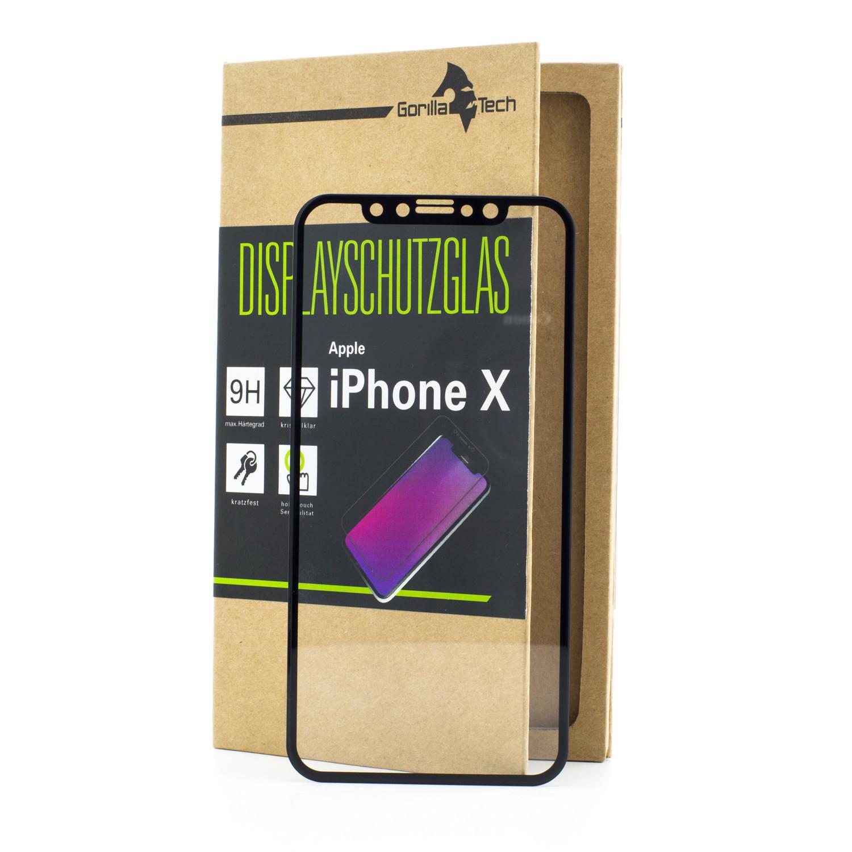Panzerglas Apple iPhone X / 10 Schutzfolie Schutzgals Echtglas Displayschutz 5 D