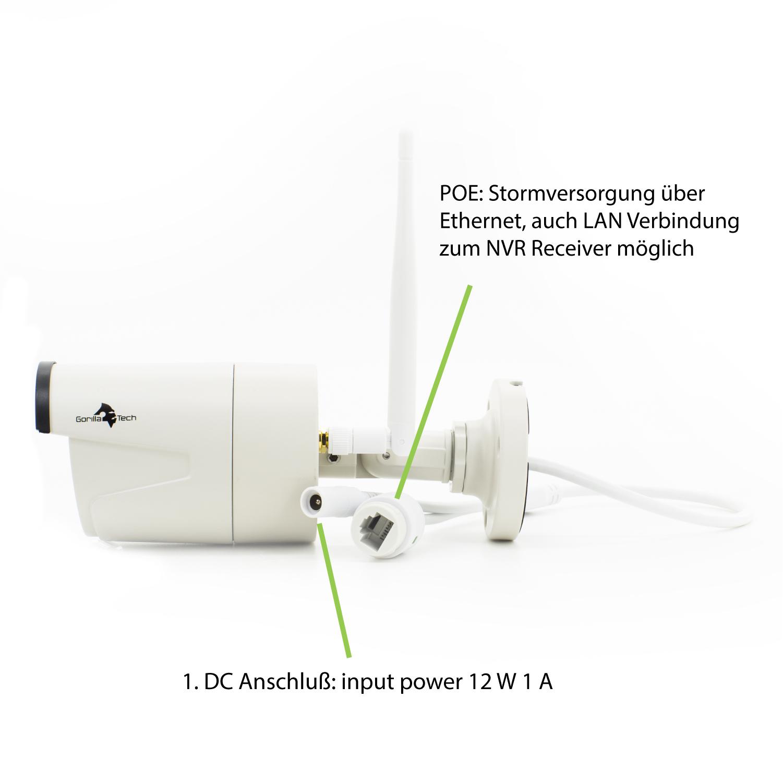 Funk berwachungskamera set wlan mit app 8 kamera au en for An und verkauf gebrauchtmobel